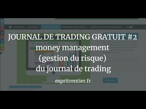 JOURNAL DE TRADING GRATUIT #2  money management (gestion du risque) du journal de trading 4